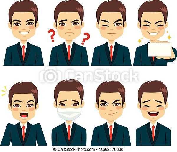 Businessman Expressions Avatar - csp62170808