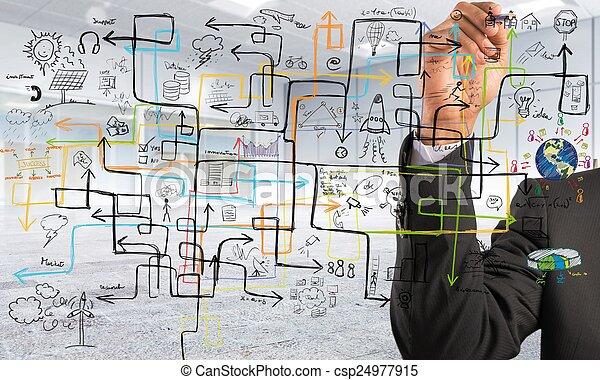 Businessman find a solution - csp24977915
