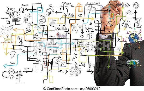 Businessman find a solution - csp26093212