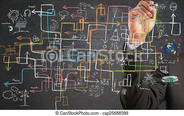 Businessman find a solution - csp25688399