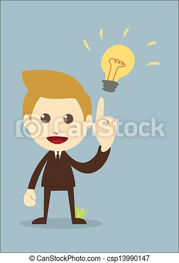 Businessman get the idea - csp13990147