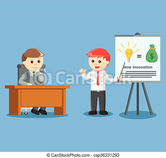 businessman giving presentation abo - csp36331293