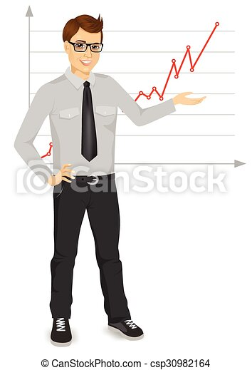 businessman giving presentation - csp30982164