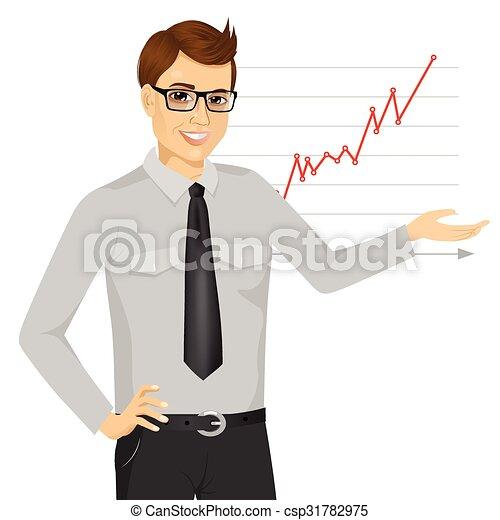 businessman giving presentation - csp31782975