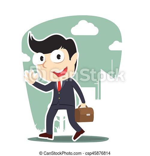 businessman going to work - csp45876814