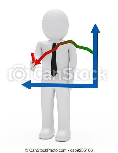 businessman graph - csp9255166