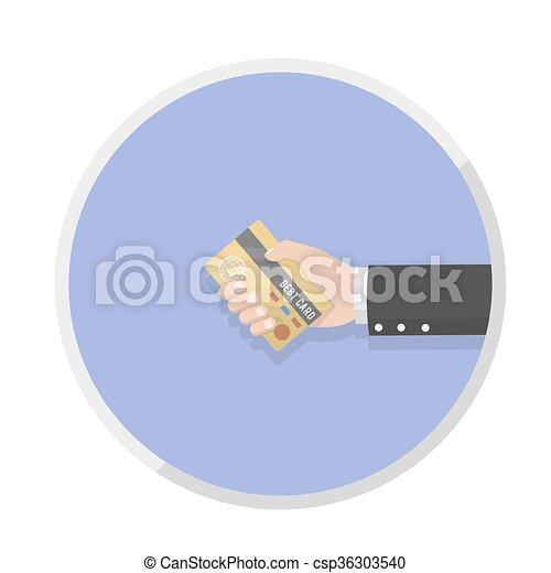 businessman hand holding the card d - csp36303540