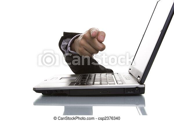 businessman hand pointing - csp2376340