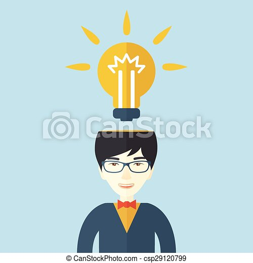 Businessman has a bright idea. - csp29120799