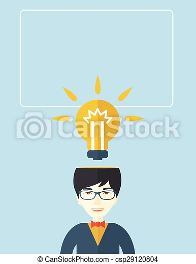 Businessman has a bright idea. - csp29120804