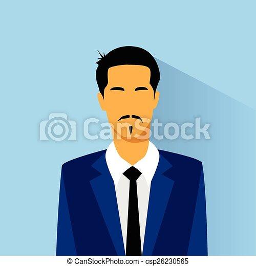 Businessman Hispanic Asia Race Profile Icon Male Portrait