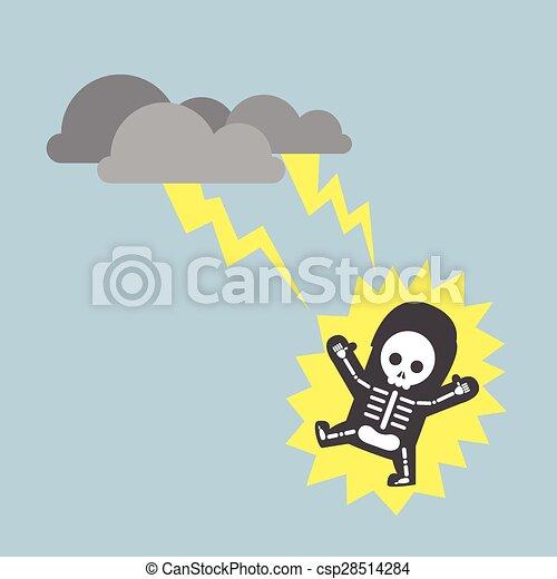 Businessman hit by lightning strike - csp28514284