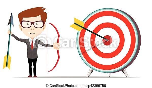 Businessman hit the target. - csp42359756