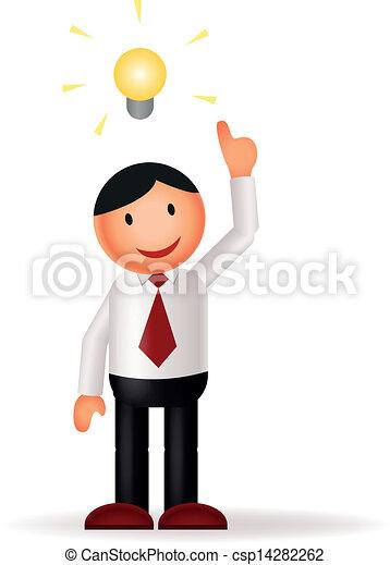 businessman & idea - csp14282262