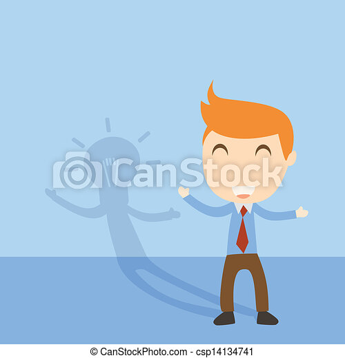 Businessman idea - csp14134741