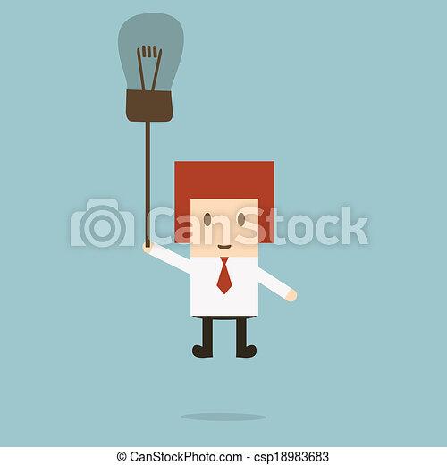 Businessman idea - csp18983683