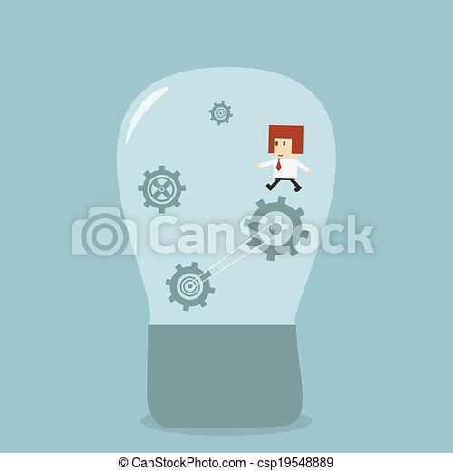Businessman idea - csp19548889