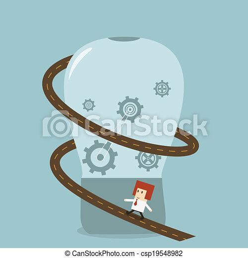 Businessman idea - csp19548982