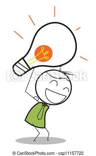 businessman idea - csp11157722