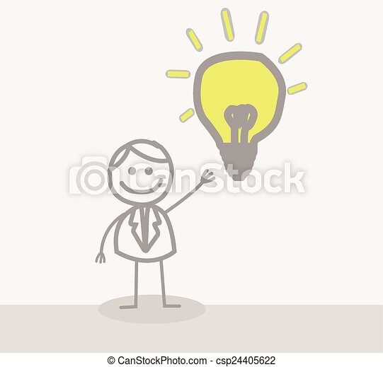 Businessman Idea - csp24405622