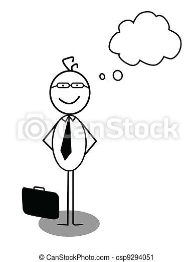 Businessman Idea Opinion - csp9294051