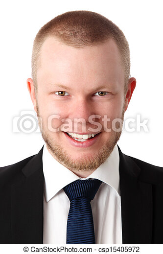 Businessman in a close up - csp15405972