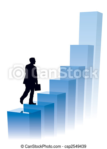 Businessman in a hurry - csp2549439