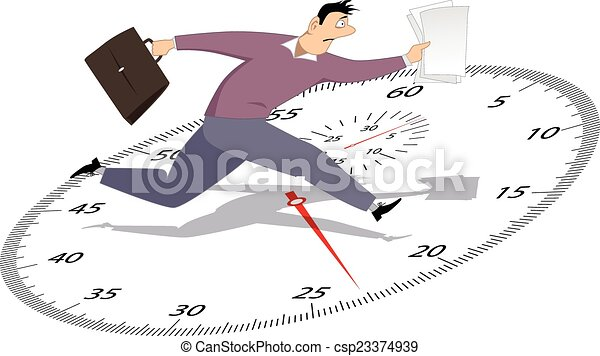 Businessman in a hurry - csp23374939