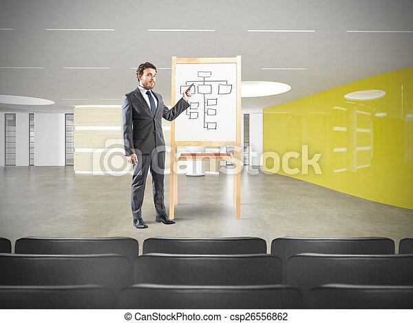 Businessman in a meeting - csp26556862