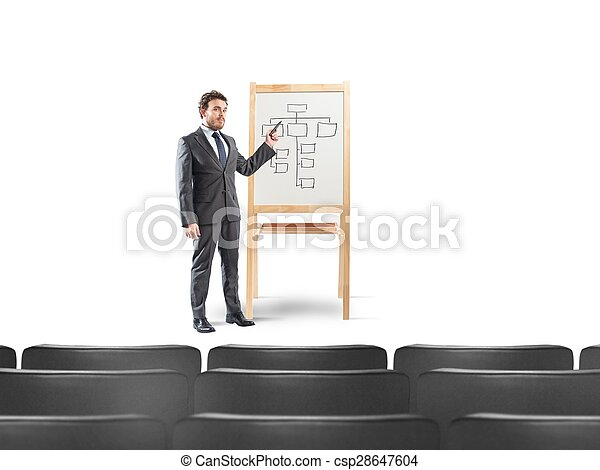 Businessman in a meeting - csp28647604