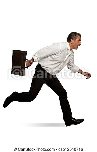 Businessman in action - csp12548716