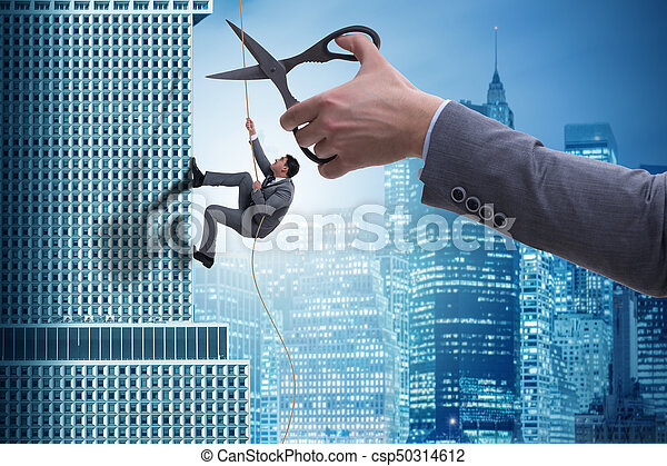 Businessman in business risk concept - csp50314612