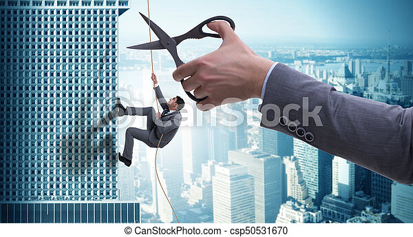 Businessman in business risk concept - csp50531670