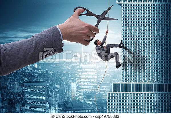 Businessman in business risk concept - csp49755883