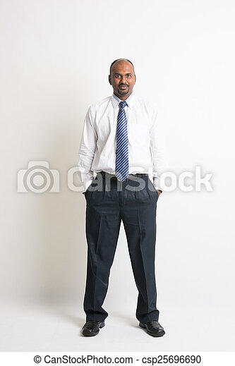 Businessman in front of white background - csp25696690