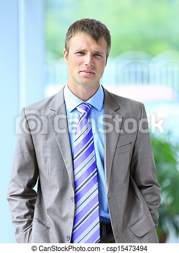 businessman in his office - csp15473494