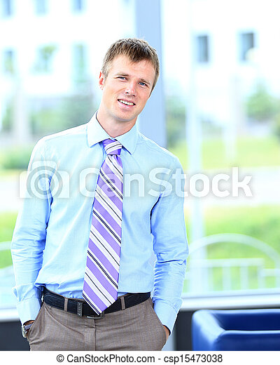 businessman in his office - csp15473038