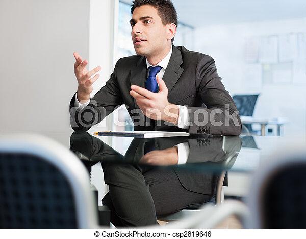 businessman in meeting room - csp2819646