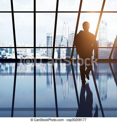 businessman in office - csp30208177