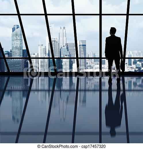 businessman in office - csp17457320
