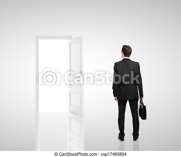 businessman in room - csp17493804