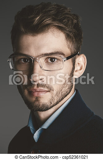 3e47e9c8ad20 Elegant man in glasses. optics style for men. handsome businessman in  spectacles. male beauty, fashion.