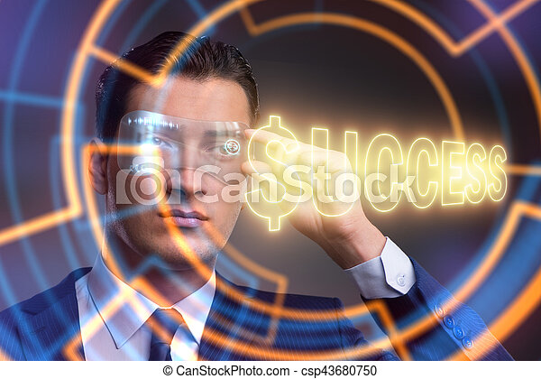 Businessman in success business concept - csp43680750