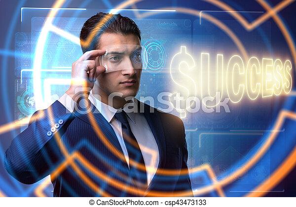Businessman in success business concept - csp43473133