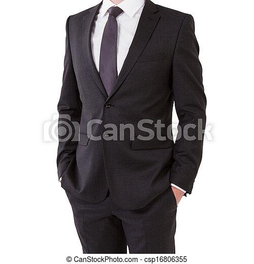 businessman in suit - csp16806355