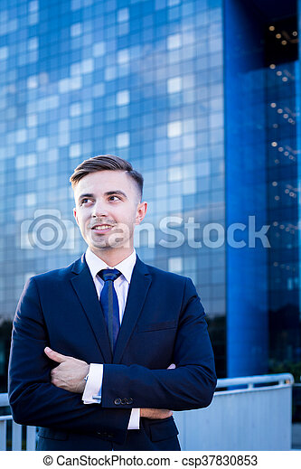 Businessman in the big city - csp37830853