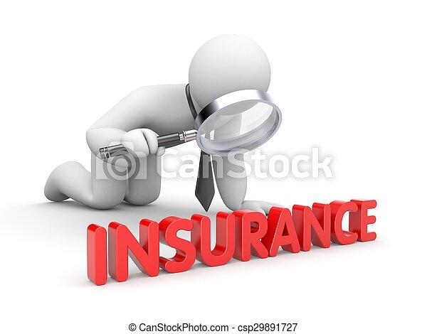 Businessman inspected insurance - csp29891727