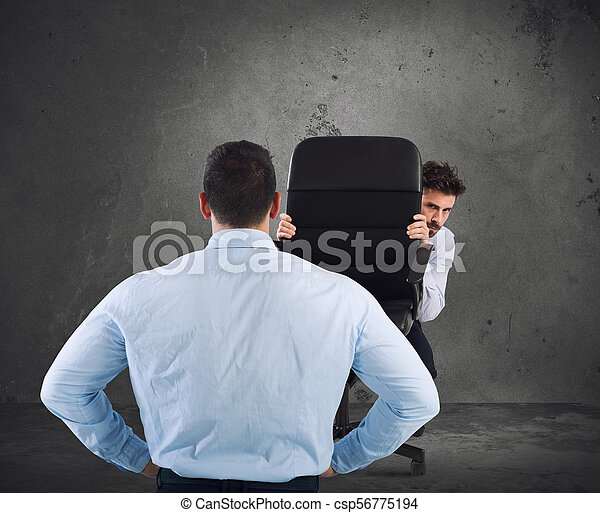 Businessman is afraid of his boss - csp56775194