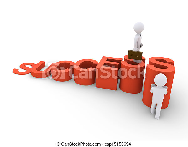 Businessman is helping another to reach the top - csp15153694
