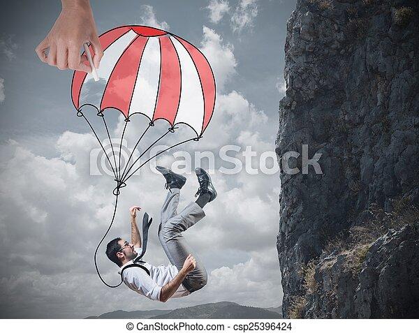 Businessman is saved - csp25396424